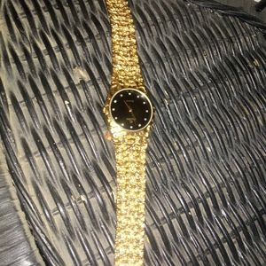 Other - Elgin gold nugget watch with black face